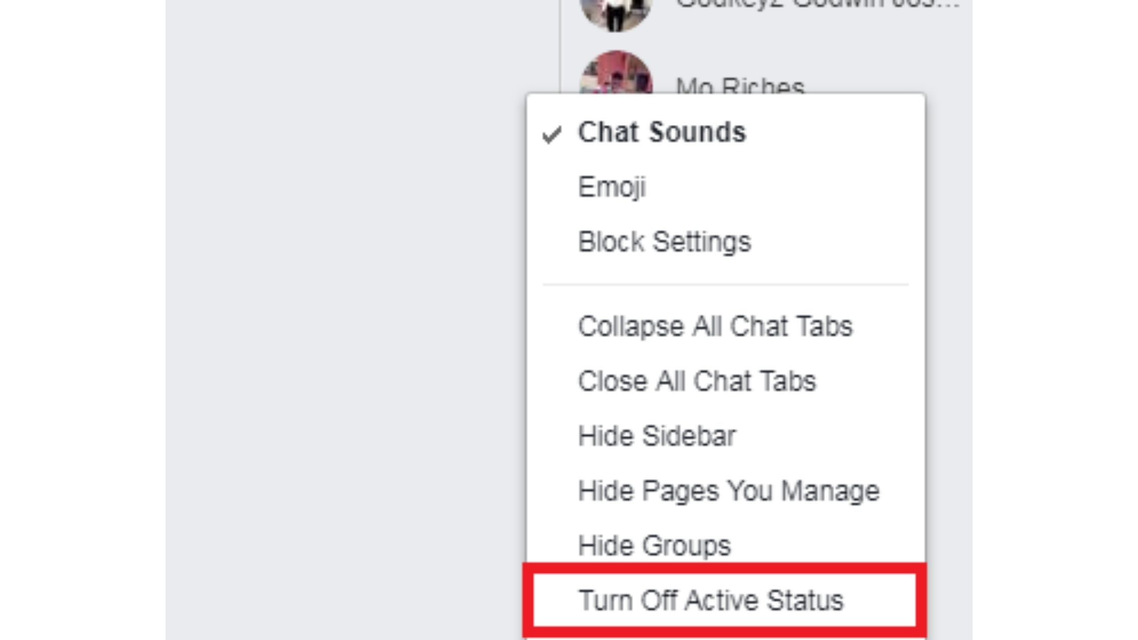 Go offline without logging out of Facebook